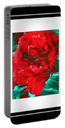 Red Peony Triptych Portable Battery Charger