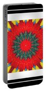 Red Peppered Sunshine - Abstract - Triptych Portable Battery Charger