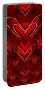 Red Pop Art Hearts Portable Battery Charger