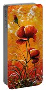 Red Poppies 023 Portable Battery Charger
