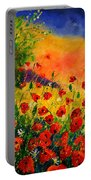 Red Poppies 45 Portable Battery Charger