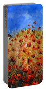 Red Poppies 562111 Portable Battery Charger