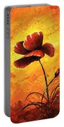 Red Poppy 012 Portable Battery Charger