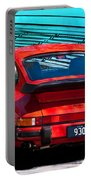 Red Porsche 930 Turbo Portable Battery Charger