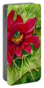 Red Prickly Pear Portable Battery Charger