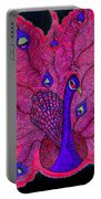 Red - Purple Peacock Portable Battery Charger