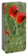 Red Red Poppies 2 Portable Battery Charger