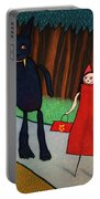 Red Ridinghood Portable Battery Charger by James W Johnson