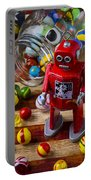 Red Robot And Marbles Portable Battery Charger