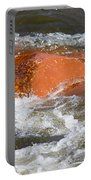 Red Rock And Water Splash Portable Battery Charger