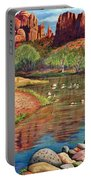 Red Rock Crossing-sedona Portable Battery Charger by Marilyn Smith