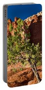 Red Rocks And Tree 1 Portable Battery Charger