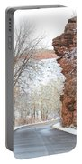 Red Rocks Winter Landscape Drive Portable Battery Charger by James BO  Insogna