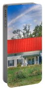 Red Roof Charm Portable Battery Charger