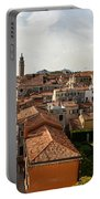 Red Roofs Of Europe - Venetian Canal Palaces Gardens And Courtyards Portable Battery Charger
