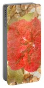 Red Rose At Noon Portable Battery Charger