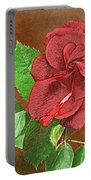 Red Rose Autumn Texture Thank-you  Portable Battery Charger