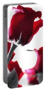 Red Rose Color Block 2 Portable Battery Charger