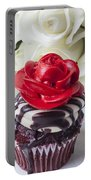Red Rose Cupcake Portable Battery Charger