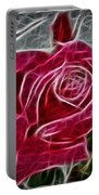 Red Rose Expressive Brushstrokes Portable Battery Charger