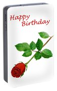 Red Rose Happy Birthday  Portable Battery Charger