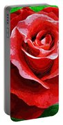 Red Rose Radiance Portable Battery Charger