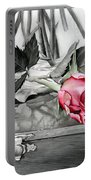 Red Rosebud Portable Battery Charger