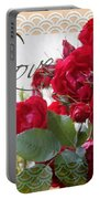 Red Roses Love And Lace Portable Battery Charger