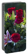 Red Roses Say I Love You Portable Battery Charger