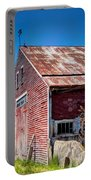 Red Rustic Weathered Barn Portable Battery Charger