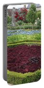 Red Salad And Roses - Chateau Villandry Garden Portable Battery Charger