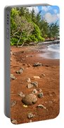 Red Sand Seclusion - The Exotic And Stunning Red Sand Beach On Maui Portable Battery Charger