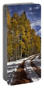 Red Sandstone Road In October Portable Battery Charger