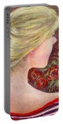 Red Scented Roses Portable Battery Charger