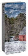Red Shed In Maine Portable Battery Charger by Guy Whiteley