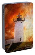Red Sky At Morning - Nubble Lighthouse Portable Battery Charger