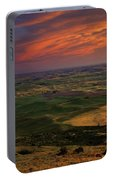 Red Sky Over The Palouse Portable Battery Charger
