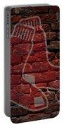 Red Sox Baseball Graffiti On Brick  Portable Battery Charger