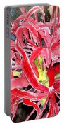 Red Spider Lily Flower Painting Portable Battery Charger