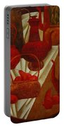 Red Still Life Portable Battery Charger