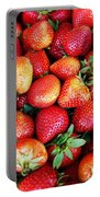 Red Strawberries Portable Battery Charger
