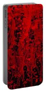 Red Streaks Portable Battery Charger