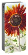 Red Sunflower Glow Portable Battery Charger by Kerri Mortenson