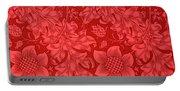 Red Sunflower Wallpaper Design, 1879 Portable Battery Charger