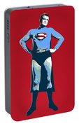 Red Superman Portable Battery Charger