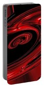 Red Swirl  Portable Battery Charger