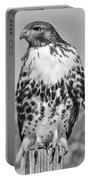 Red Tail Hawk Youth Black And White Portable Battery Charger