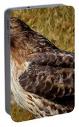 Red Tailed Hawk Close Up Portable Battery Charger