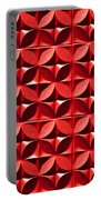 Red Textured Wall Portable Battery Charger