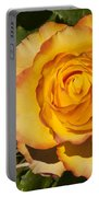 Red-tipped Yellow-orange Rose Portable Battery Charger